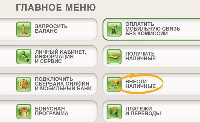 Как пополнить собственную карту через банкомат