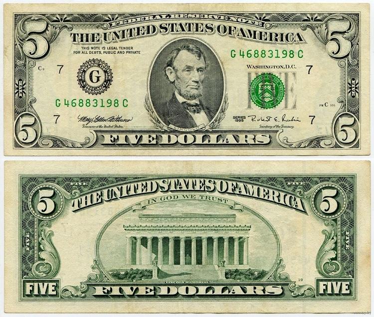 Купюра 5 долларов