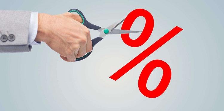 Уменьшение процента