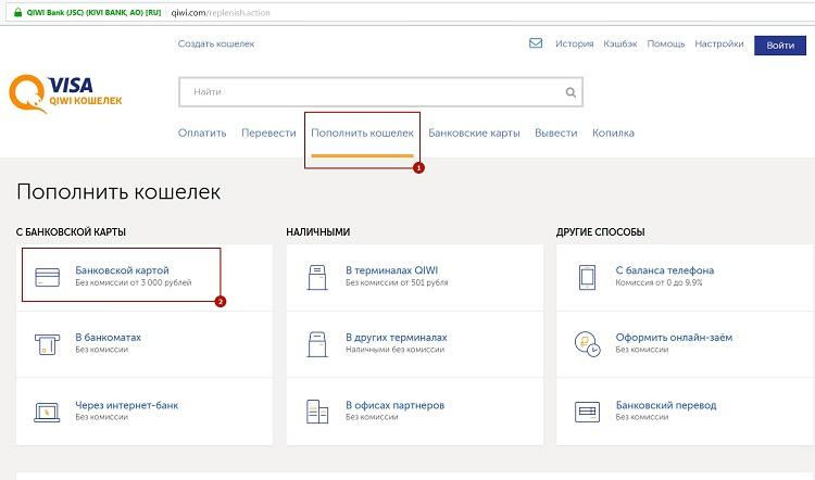 Сайт Киви